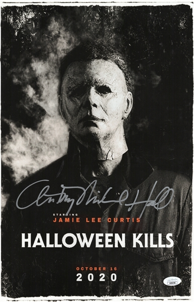 Anthony Michael Hall Autograph Signed 11x17 Photo - Halloween Kills (JSA COA)