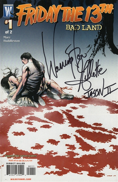 "Warrington Gillette Autograph Signed Comic Book - Friday the 13th ""Jason Voorhees"" (JSA COA)"