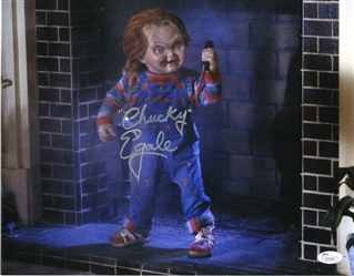 "Ed Gale Autograph Signed 11x14 Photo - Childs Play ""Chucky"" (JSA COA)"
