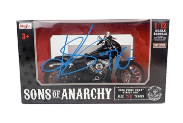 "Kim Coates Autograph Signed 1:12 Scale Diecast Bike - Sons of Anarchy ""Tig"" (JSA COA)"