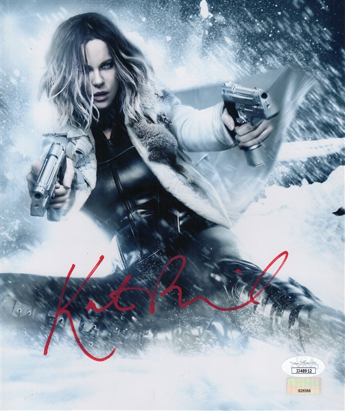 "Kate Beckinsale Autograph Signed 8x9.5 Photo - Underworld ""Selene"" (JSA COA)"