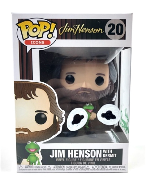 "Guy Gilchrist Autograph Signed Funko Pop - Sketched - Jim Henson with Kermit ""Cartoonist"" (JSA COA)"