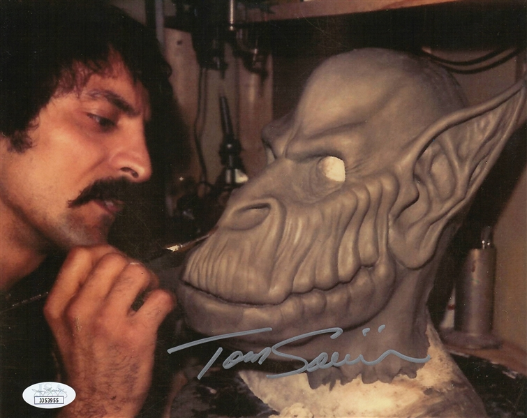 "Tom Savini Autograph Signed 8x10 Photo - Creepshow ""Make-up Artist""(JSA COA)"