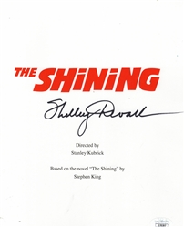 "Shelley Duvall Autograph Signed Script Cover -  The Shining ""Wendy""(JSA COA)"