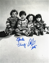 "Ed Gale & Alex Vincent Dual Autograph Signed 11x14 Photo - Childs Play ""Chucky & Andy"" (Zobie COA)"