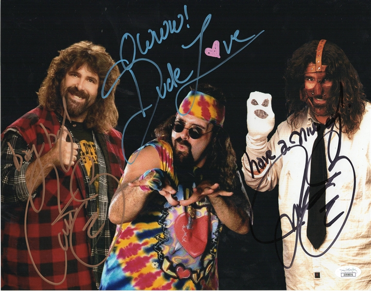 Mick Foley Autograph Signed 11x14 Photo - WWE Wrestler (JSA COA)