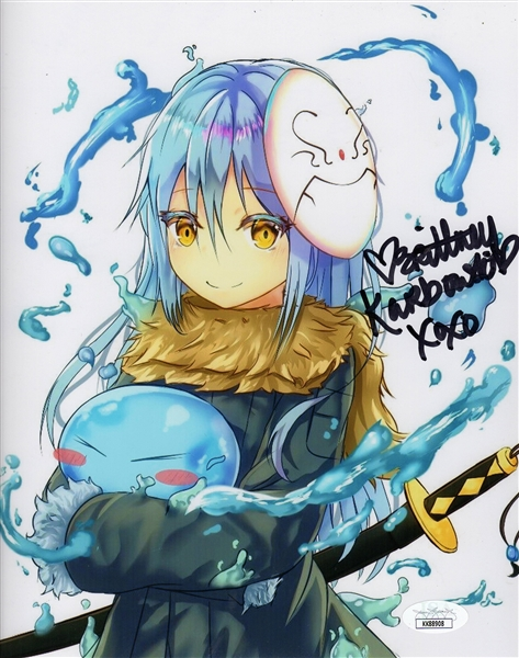 "Brittney Karbowski Autograph Signed 8x10 Photo - Reincarnated as a Slime ""Rimuru"" (JSA COA)"