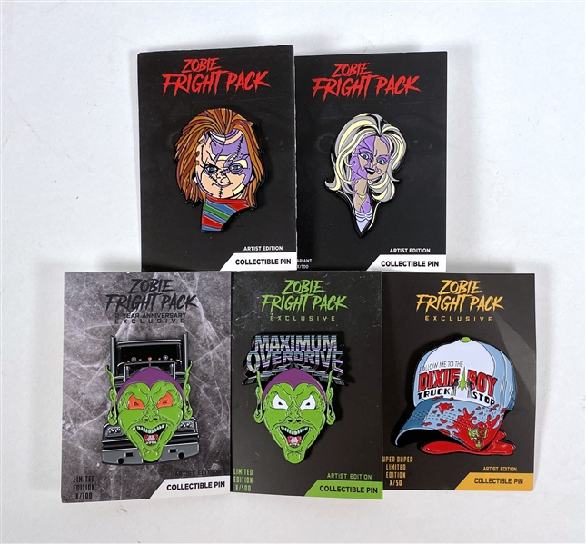 Zobie Exclusive Collectible Pin Bundle - Horror