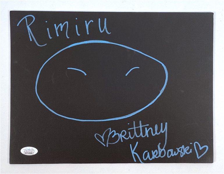 "Brittney Karbowski Autograph Signed 8x10 Canvas Board - That Time I Got Reincarnated as a Slime ""RIMURU "" (JSA COA)"