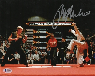 "Ralph Macchio Autograph Signed 8x10 Photo - Karate Kid ""Daniel"" (BAS COA)"